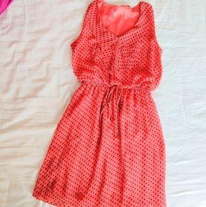 Dresses & Skirts - Polka dot orange chiffon dress